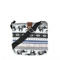 QQ2214 Black - Elephant Printing Cross body Bag for Girl