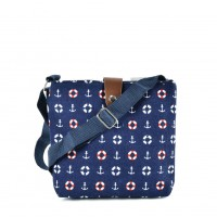 QQ2217 Navy - Cartoon Printing Cross body Bag for Girl