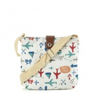 QQ2218 White - Cartoon Printing Cross body Bag for Girl